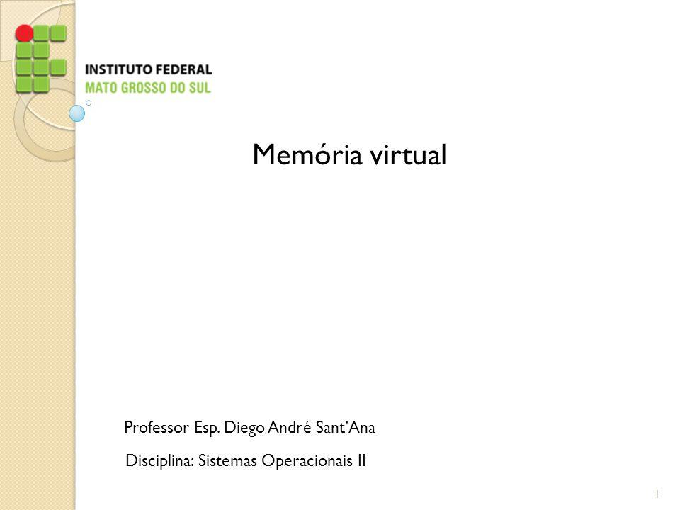 Memória virtual Professor Esp. Diego André Sant'Ana