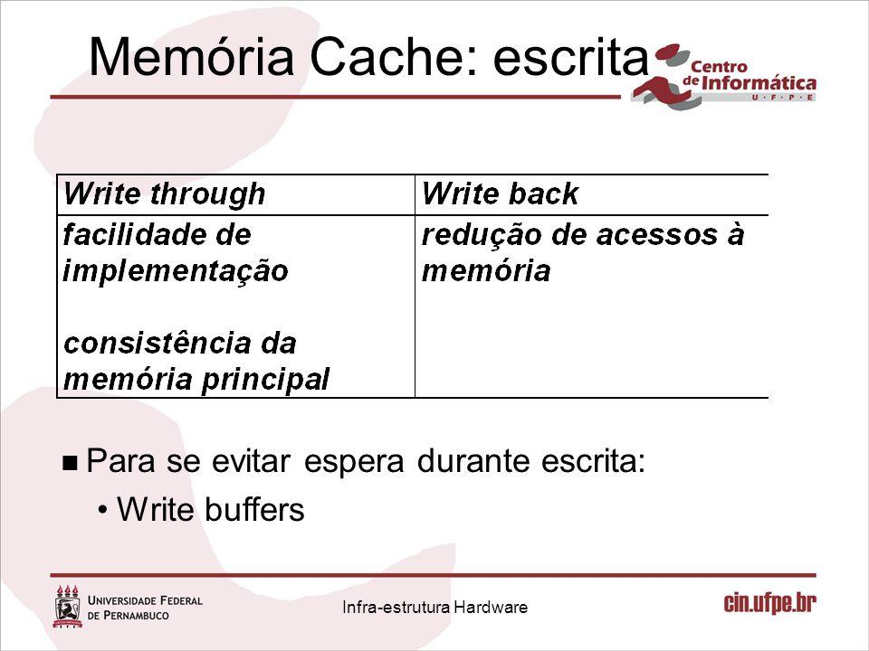 Memória Cache: escrita