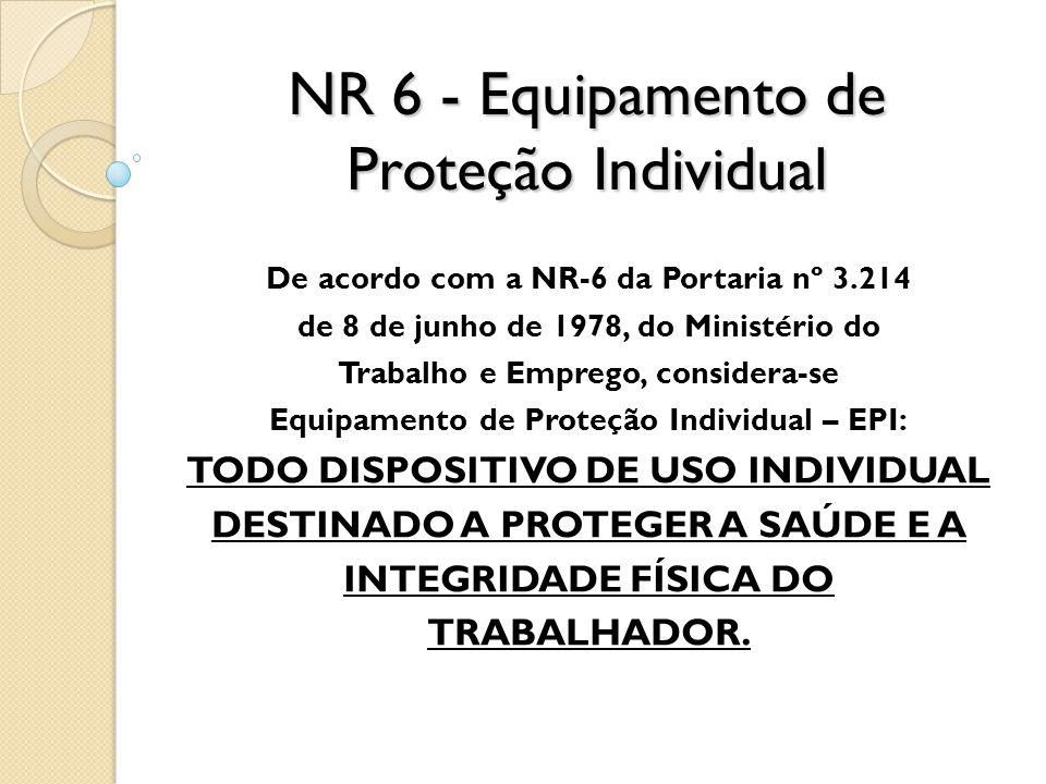NR 6 - Equipamento de Proteção Individual
