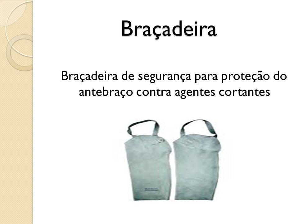 Braçadeira Braçadeira de segurança para proteção do antebraço contra agentes cortantes