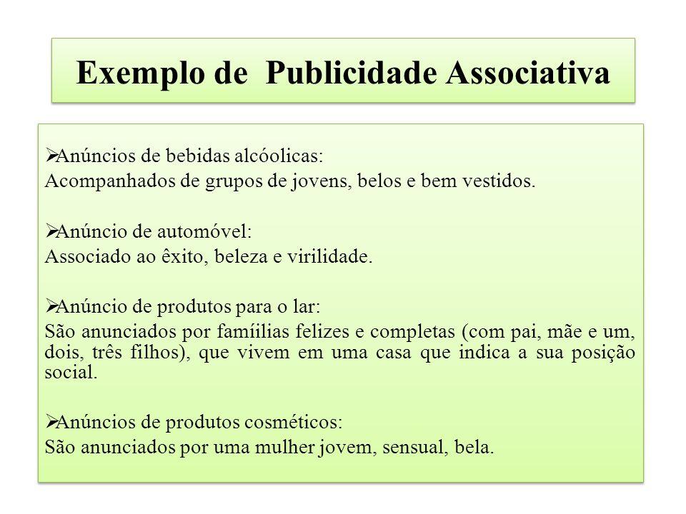 Exemplo de Publicidade Associativa