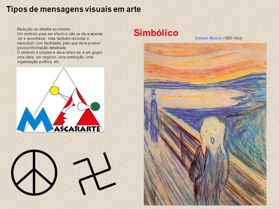 Simbólico Tipos de mensagens visuais em arte