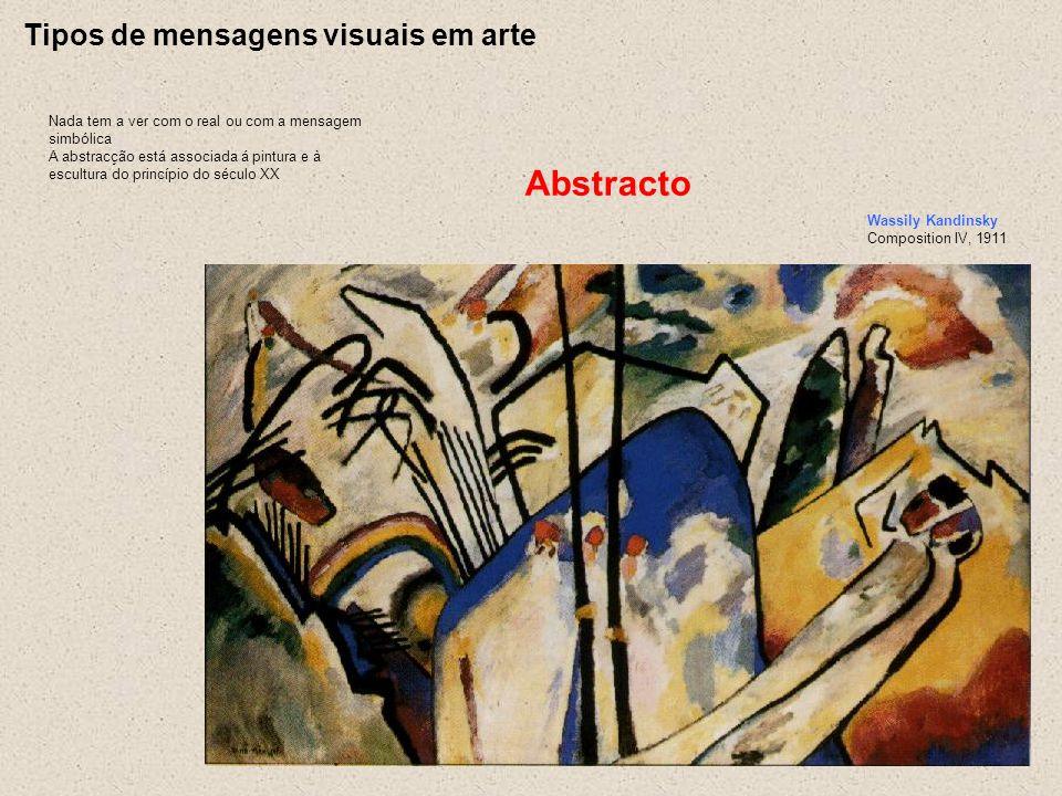 Abstracto Tipos de mensagens visuais em arte