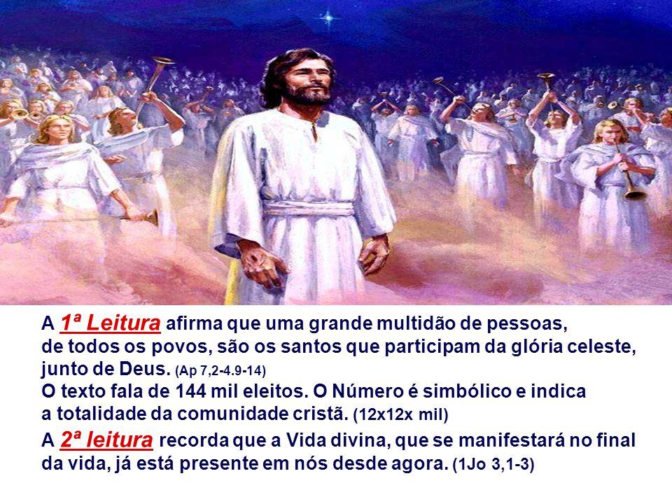 A 1ª Leitura afirma que uma grande multidão de pessoas, de todos os povos, são os santos que participam da glória celeste, junto de Deus. (Ap 7,2-4.9-14)