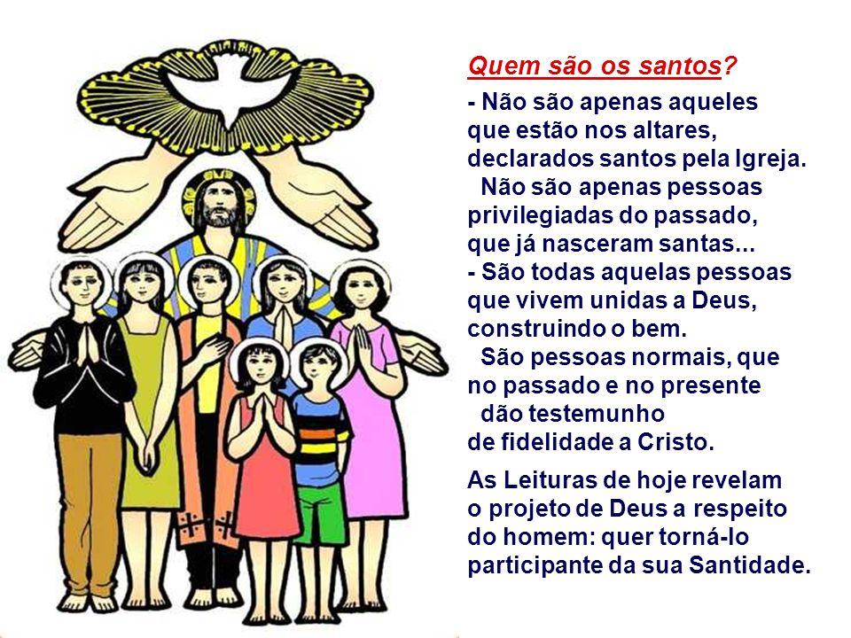 Quem são os santos - Não são apenas aqueles que estão nos altares, declarados santos pela Igreja.