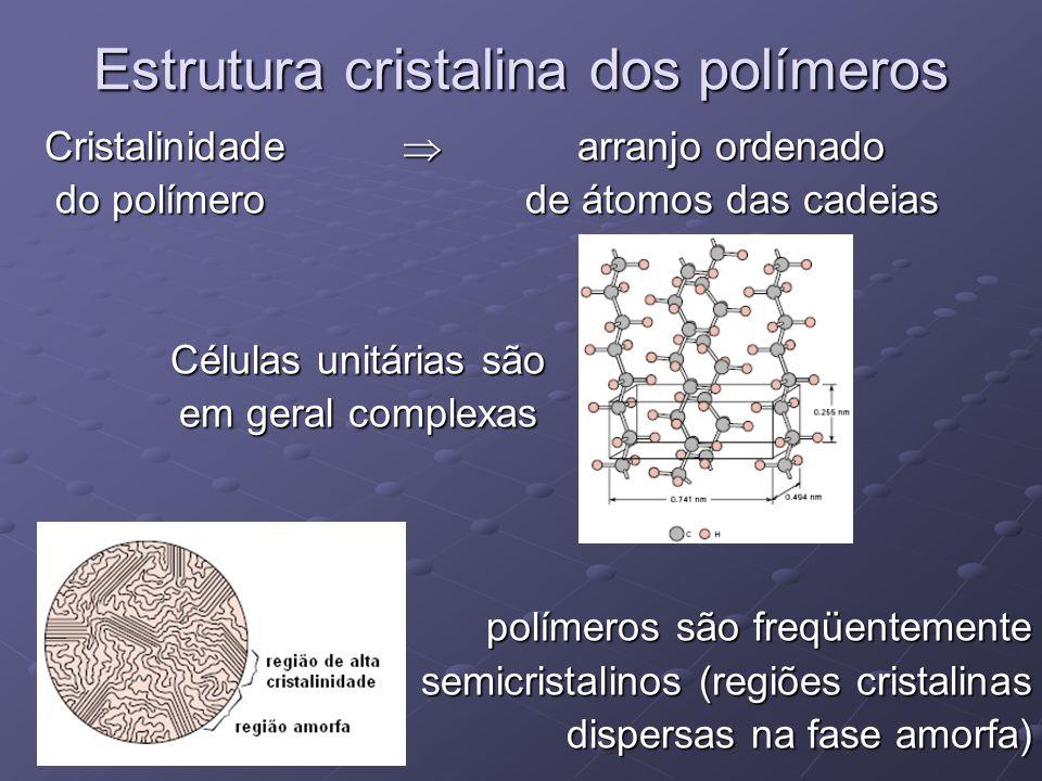 Estrutura cristalina dos polímeros