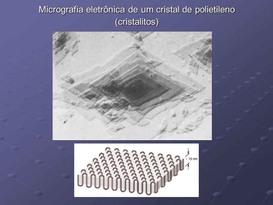 Micrografia eletrônica de um cristal de polietileno