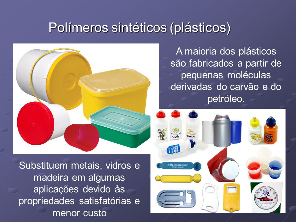 Polímeros sintéticos (plásticos)