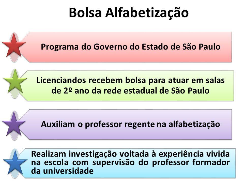 Bolsa Alfabetização Programa do Governo do Estado de São Paulo