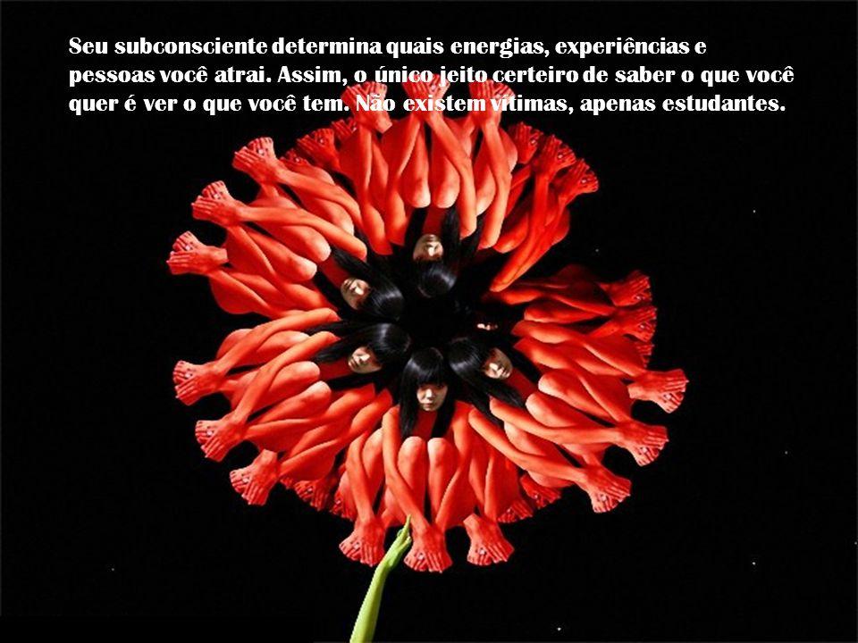 Seu subconsciente determina quais energias, experiências e pessoas você atrai.