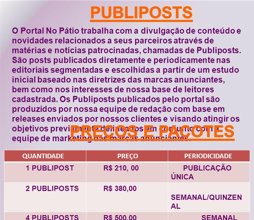 PUBLIPOSTS PREÇOS E PACOTES