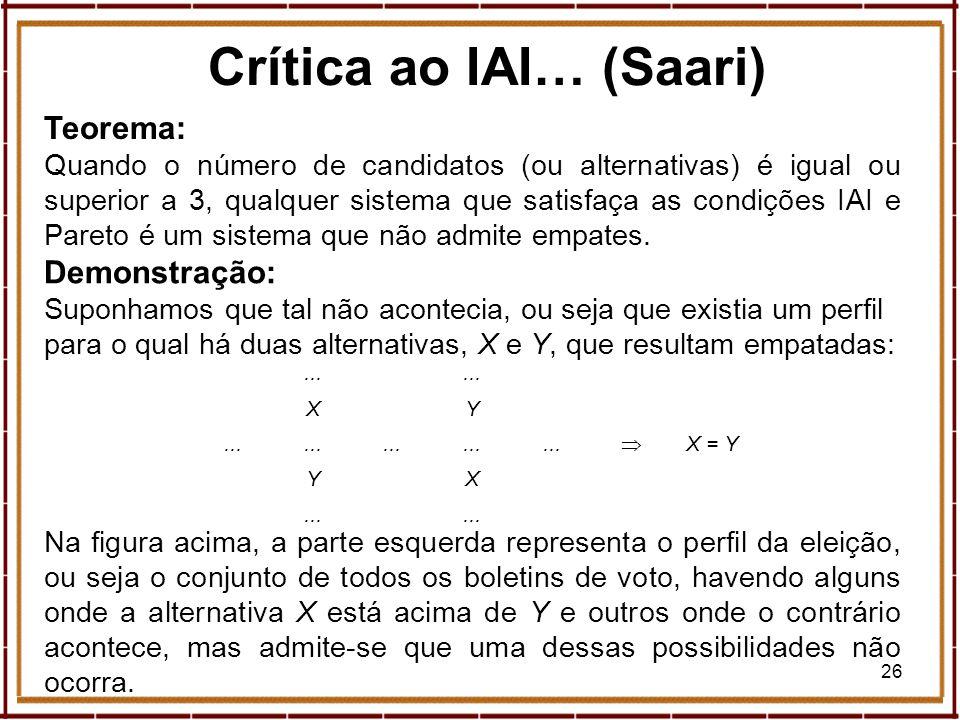Crítica ao IAI… (Saari)