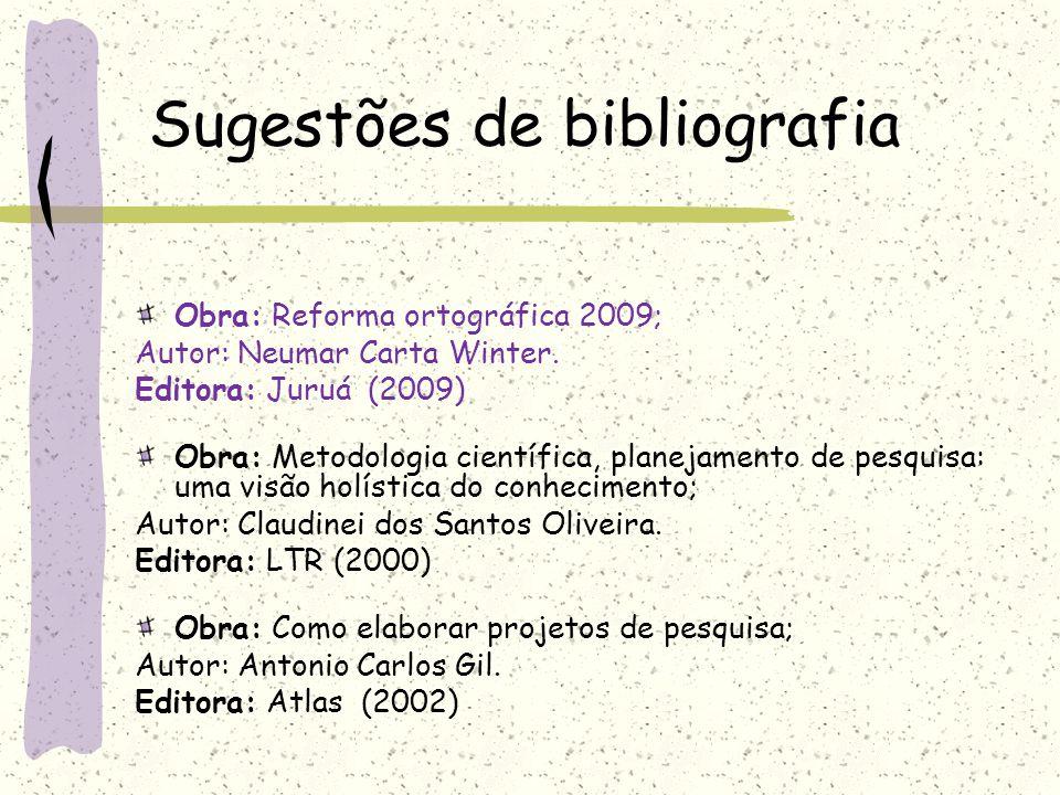 Sugestões de bibliografia