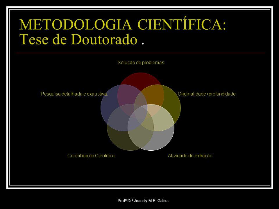 METODOLOGIA CIENTÍFICA: Tese de Doutorado .