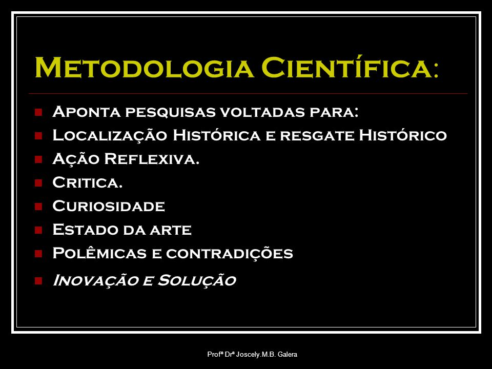Metodologia Científica: