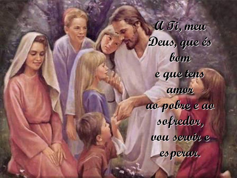 A Ti, meu Deus, que és bom e que tens amor ao pobre e ao sofredor, vou servir e esperar.