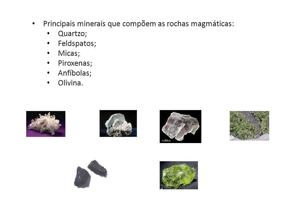 Principais minerais que compõem as rochas magmáticas: