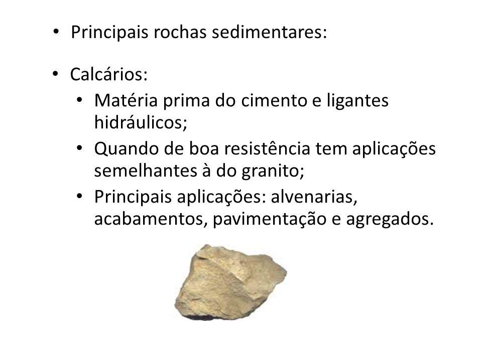 Principais rochas sedimentares: