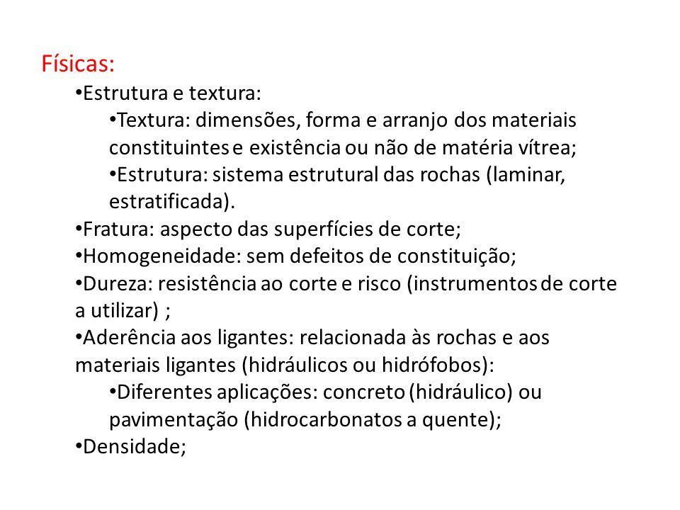 Físicas: Estrutura e textura: