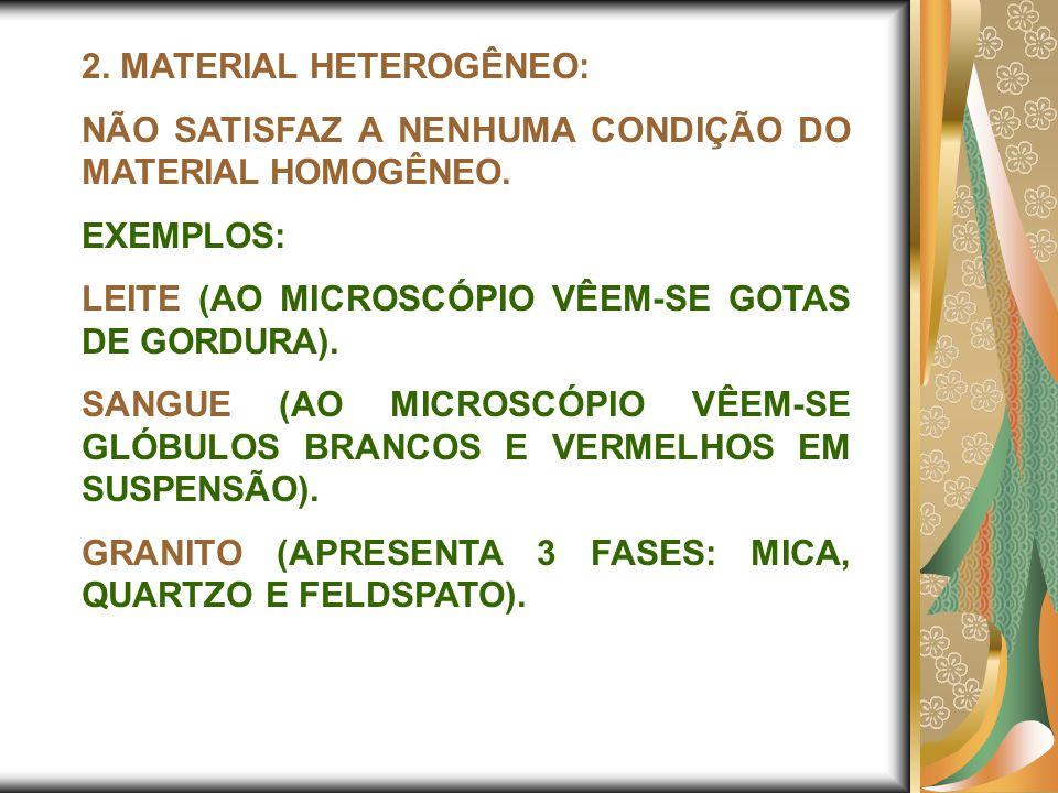 2. MATERIAL HETEROGÊNEO: