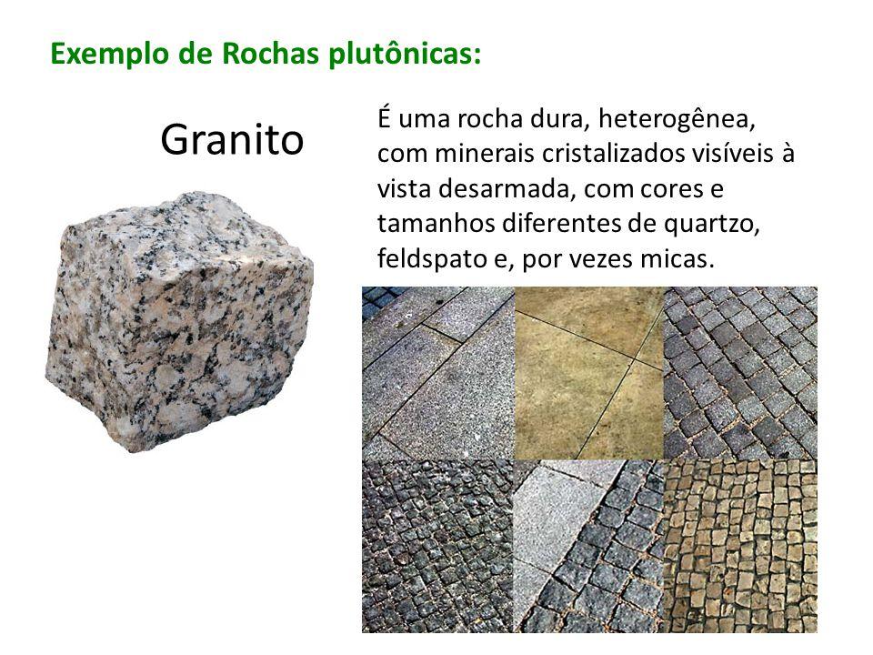 Granito Exemplo de Rochas plutônicas: