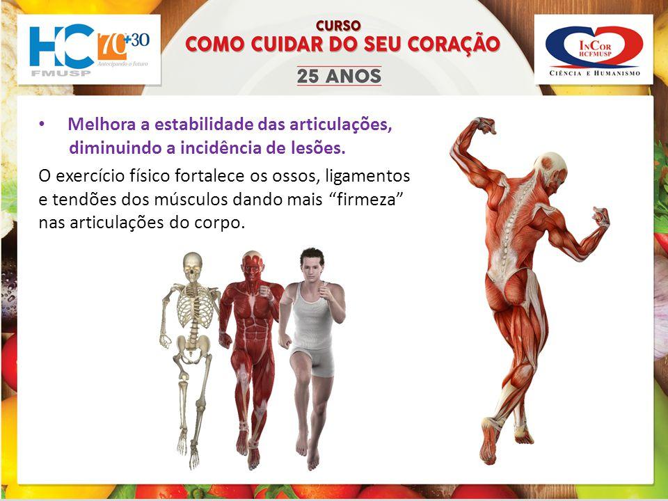 Melhora a estabilidade das articulações, diminuindo a incidência de lesões.