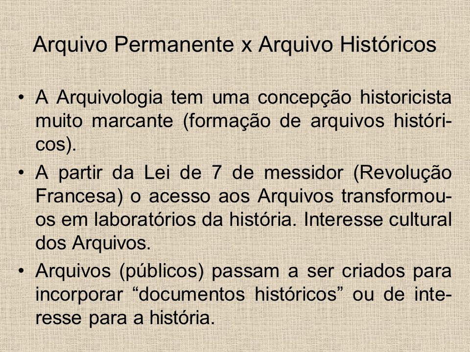 Arquivo Permanente x Arquivo Históricos