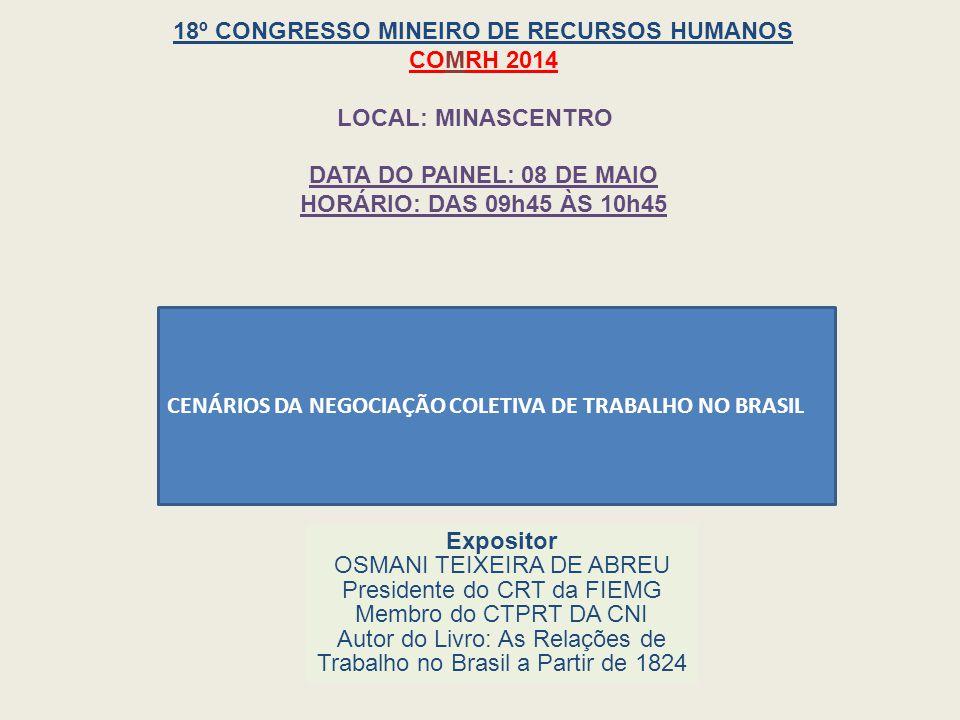 18º CONGRESSO MINEIRO DE RECURSOS HUMANOS