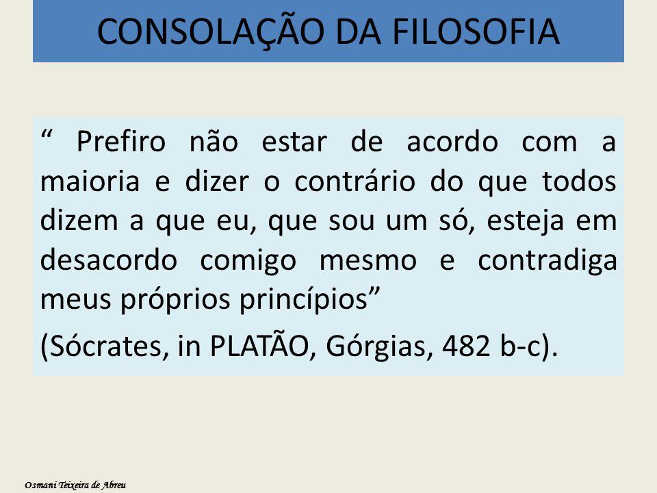 CONSOLAÇÃO DA FILOSOFIA