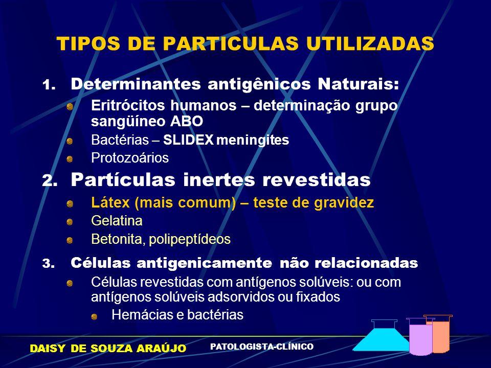 TIPOS DE PARTICULAS UTILIZADAS