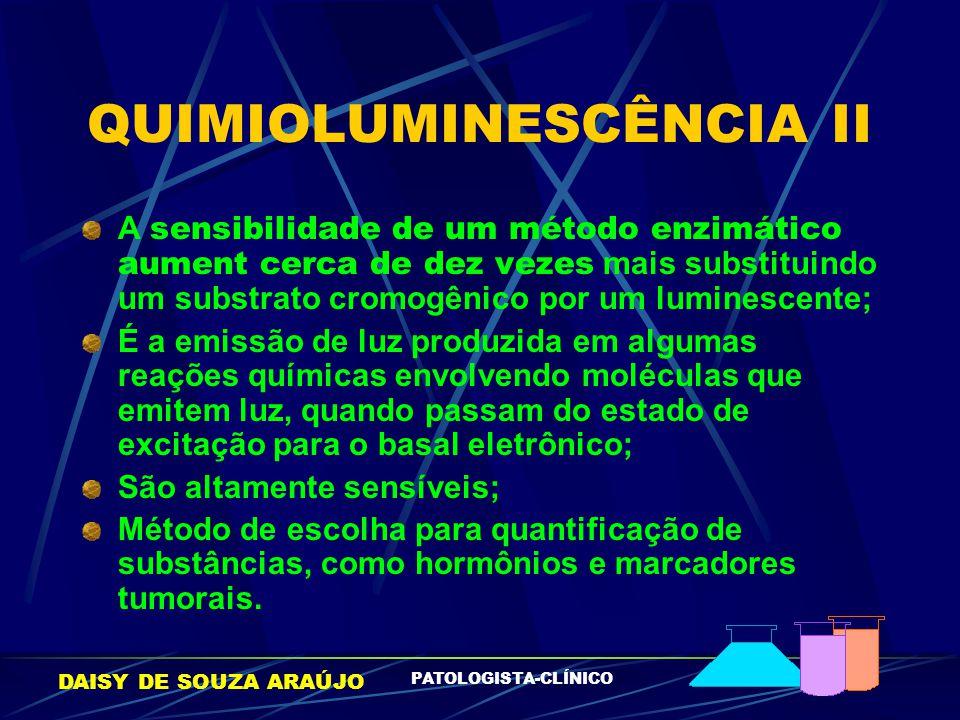 QUIMIOLUMINESCÊNCIA II