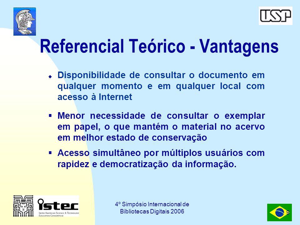 Referencial Teórico - Vantagens