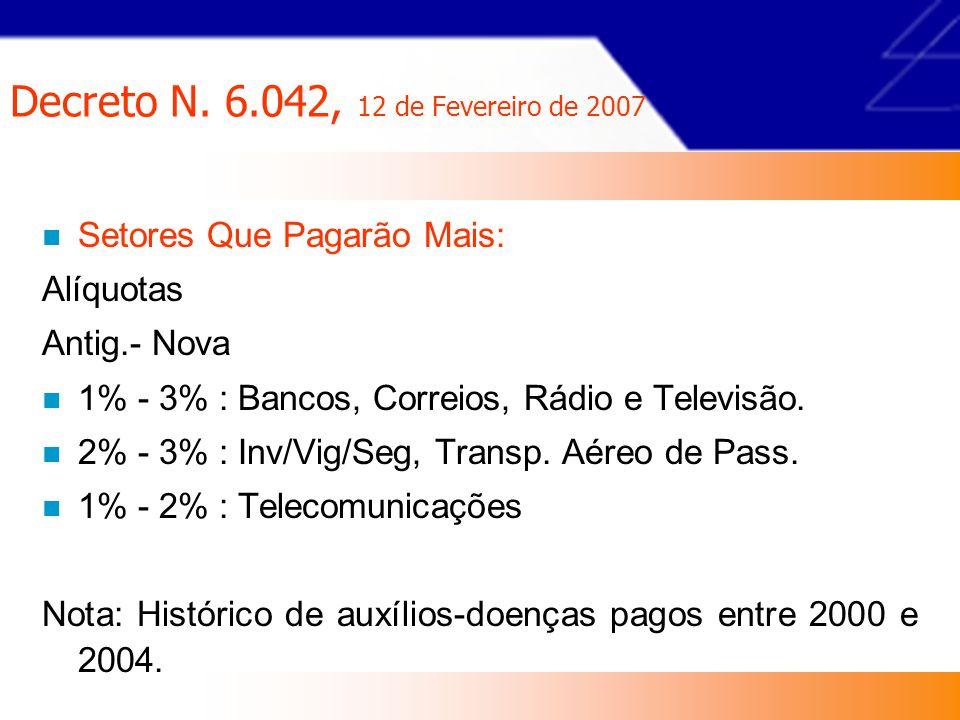 Decreto N. 6.042, 12 de Fevereiro de 2007
