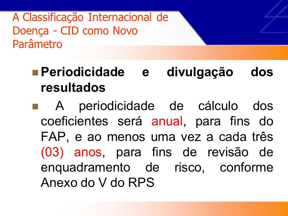 A Classificação Internacional de Doença - CID como Novo Parâmetro