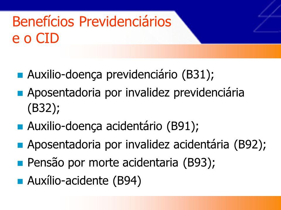 Benefícios Previdenciários e o CID