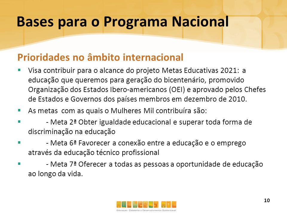 Bases para o Programa Nacional