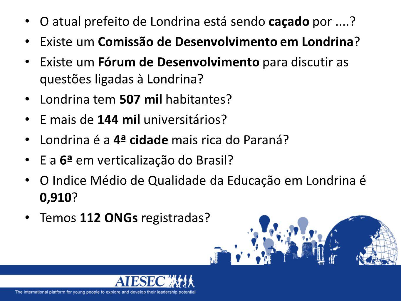 O atual prefeito de Londrina está sendo caçado por ....