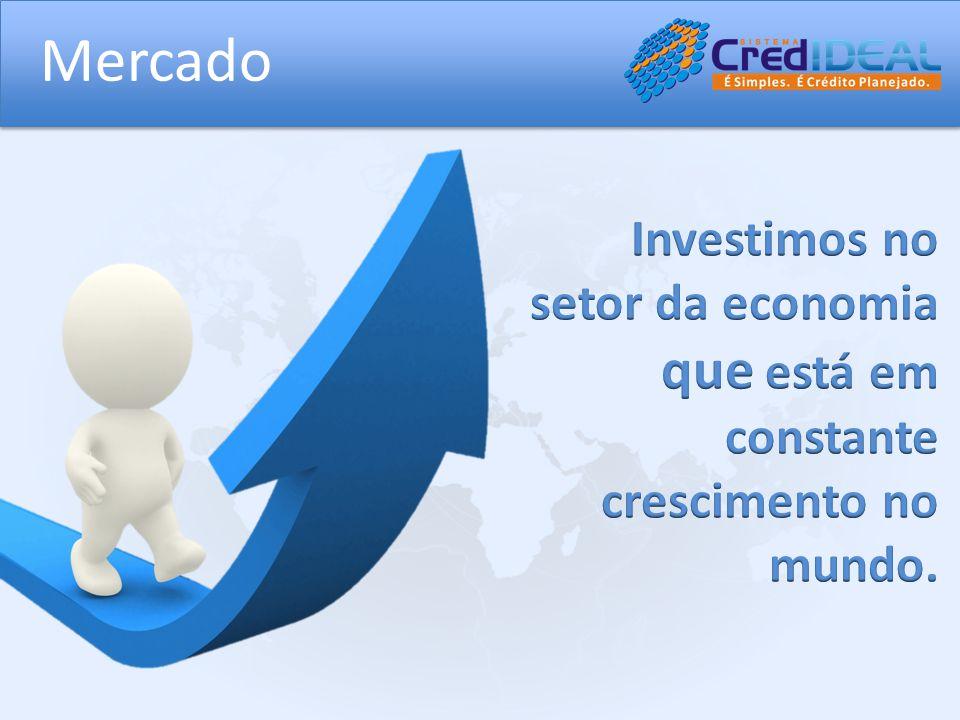 Mercado Investimos no setor da economia que está em constante crescimento no mundo.