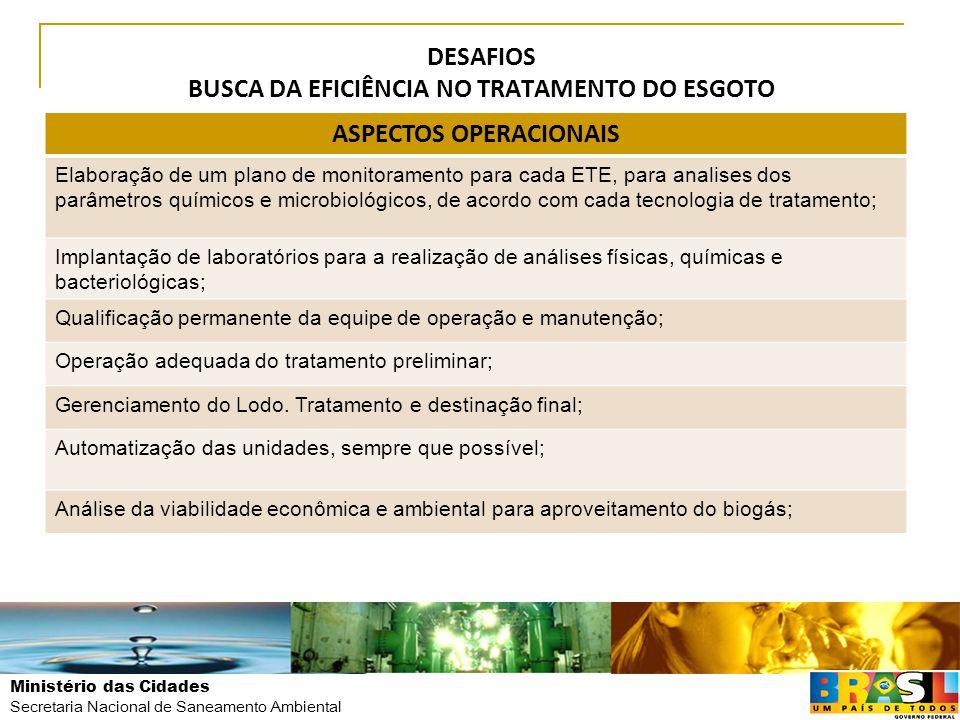 DESAFIOS BUSCA DA EFICIÊNCIA NO TRATAMENTO DO ESGOTO