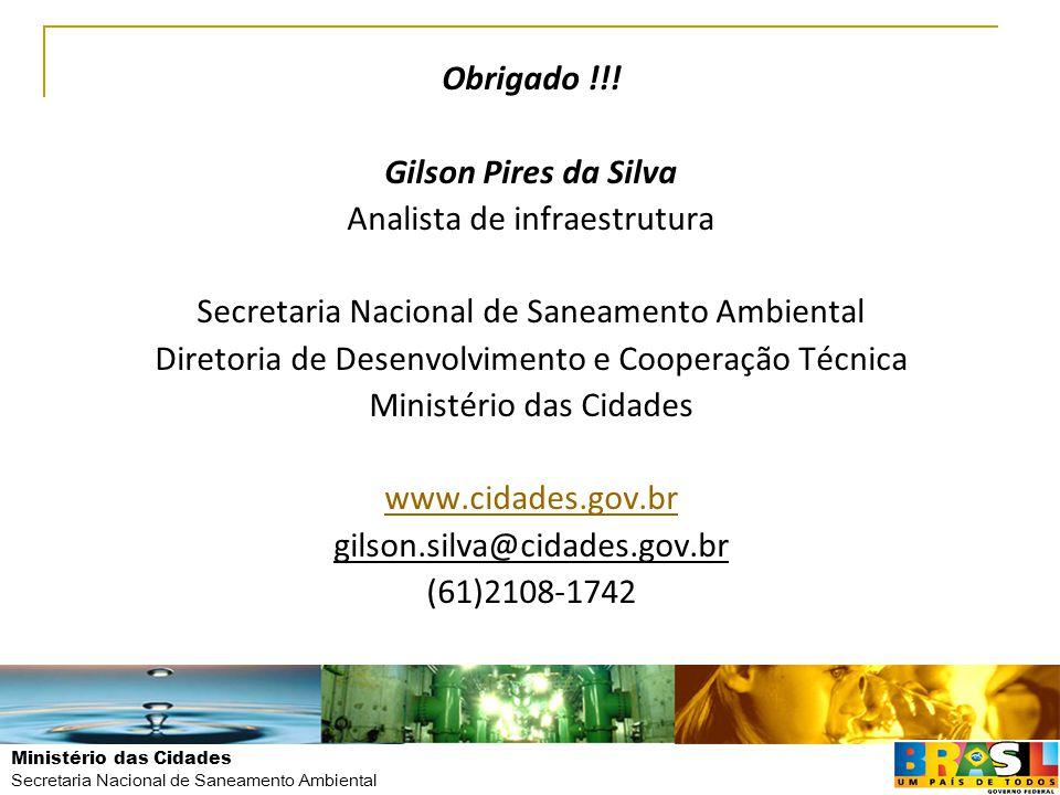 Obrigado !!! Gilson Pires da Silva