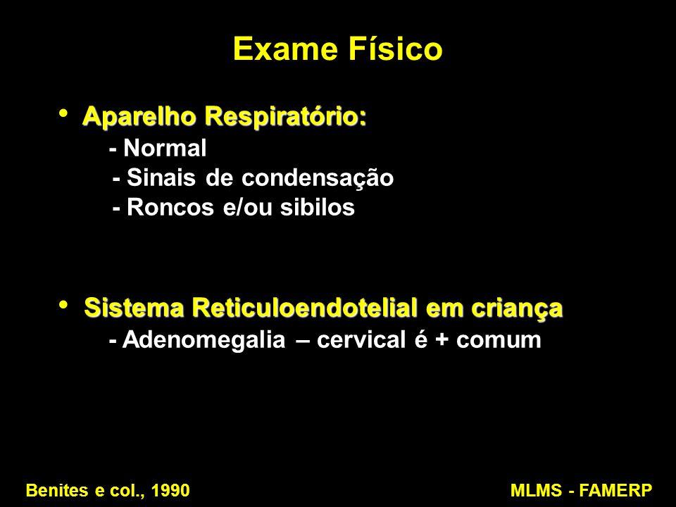 Exame Físico Aparelho Respiratório: - Normal