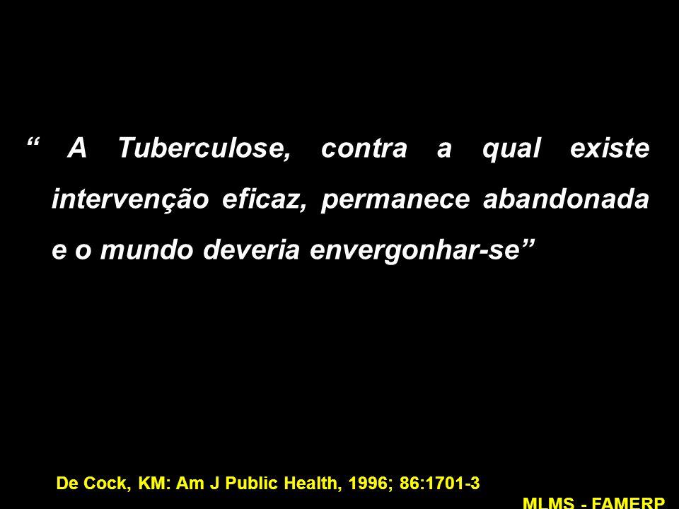 A Tuberculose, contra a qual existe intervenção eficaz, permanece abandonada e o mundo deveria envergonhar-se