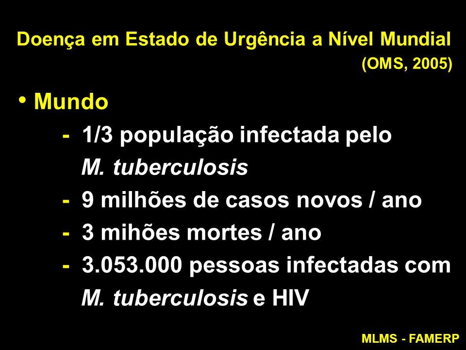 Doença em Estado de Urgência a Nível Mundial (OMS, 2005)