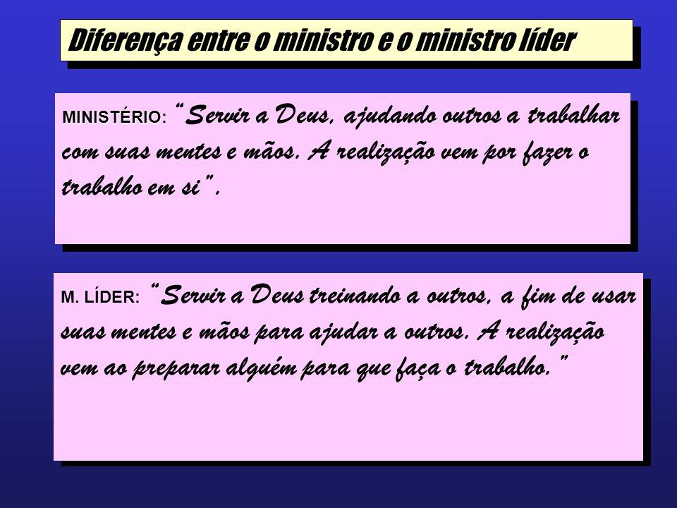Diferença entre o ministro e o ministro líder