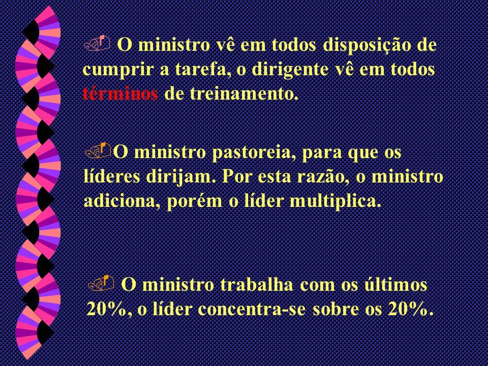 O ministro vê em todos disposição de cumprir a tarefa, o dirigente vê em todos términos de treinamento.