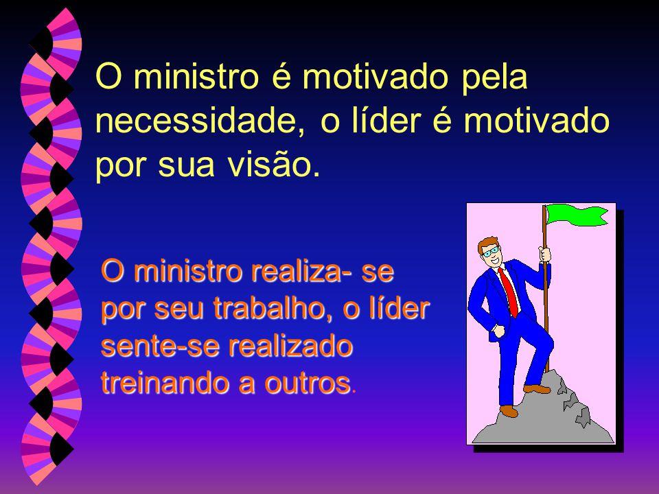 O ministro é motivado pela necessidade, o líder é motivado por sua visão.