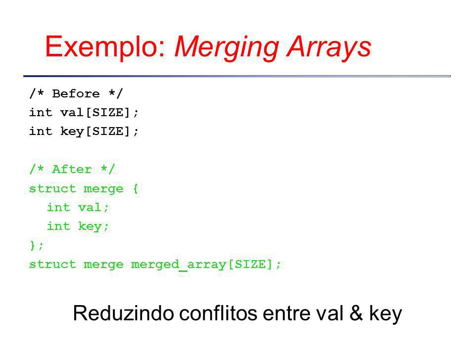 Exemplo: Merging Arrays