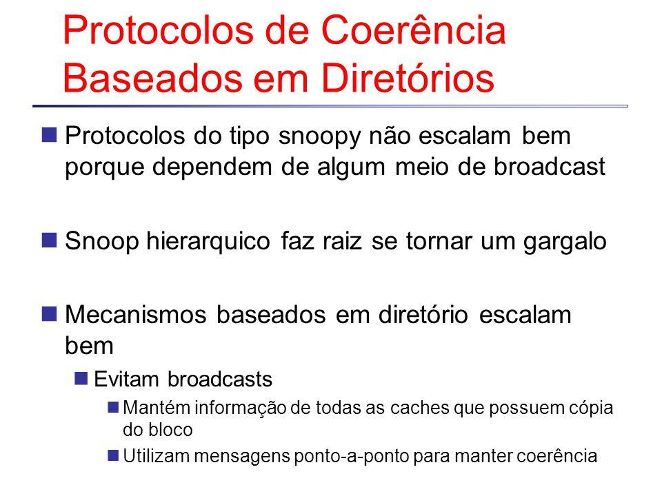 Protocolos de Coerência Baseados em Diretórios