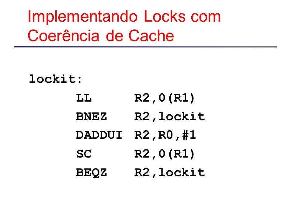 Implementando Locks com Coerência de Cache