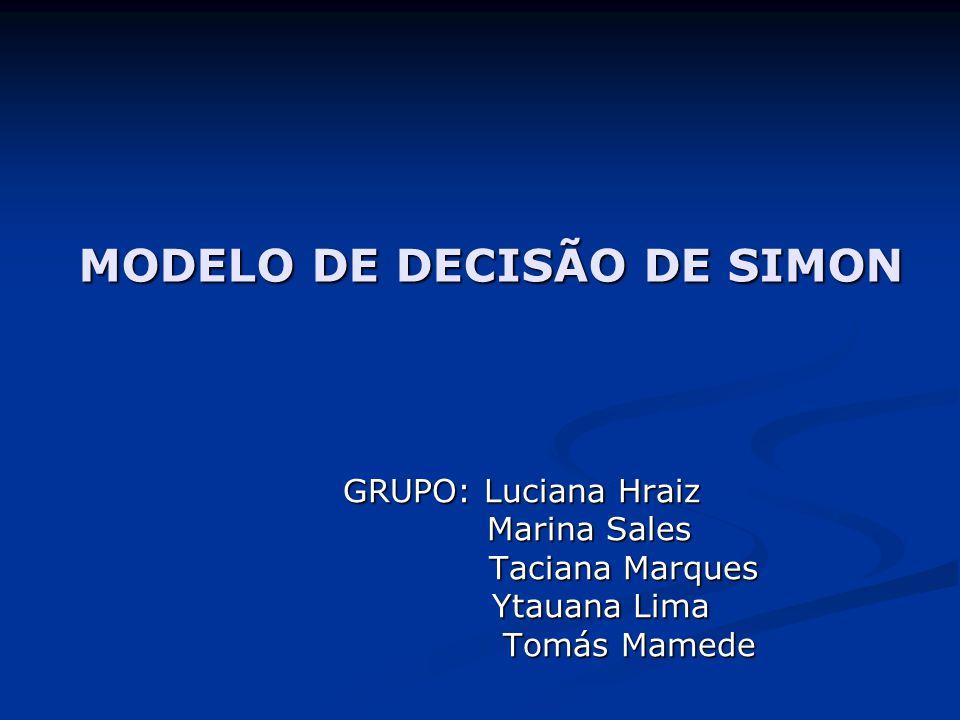MODELO DE DECISÃO DE SIMON